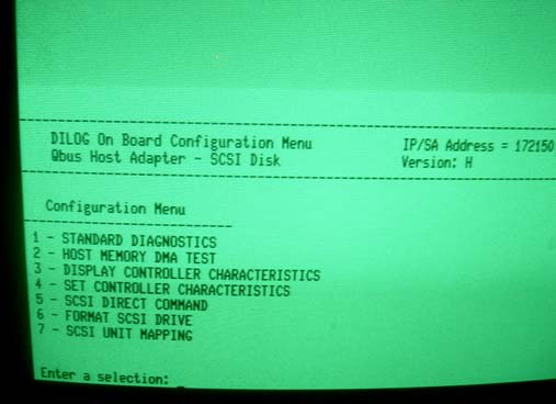 PDP SCSI card screen