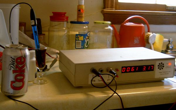 pH/PPM Meter Measuring Diet Coke