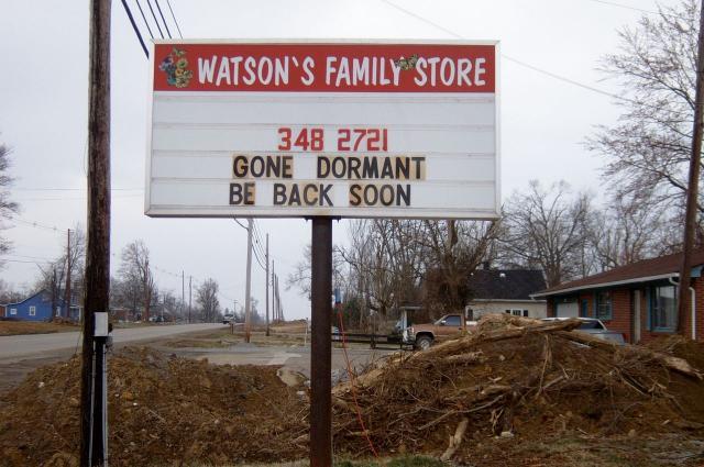 Gone Dormant sign