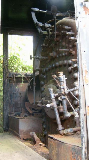 Steam engine inside