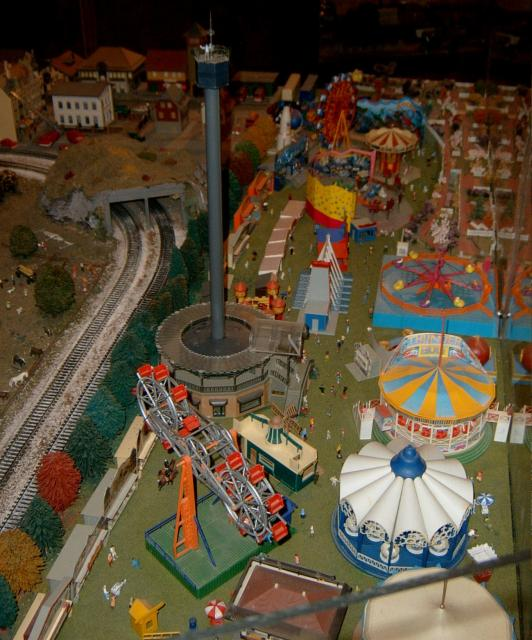 Train Model featuring an amusement park